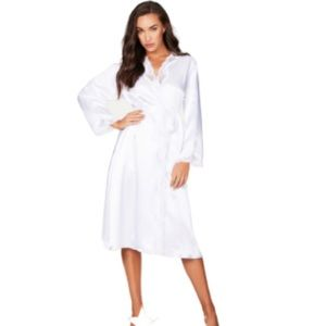 NEW! Nicole Satin and Lace Robe